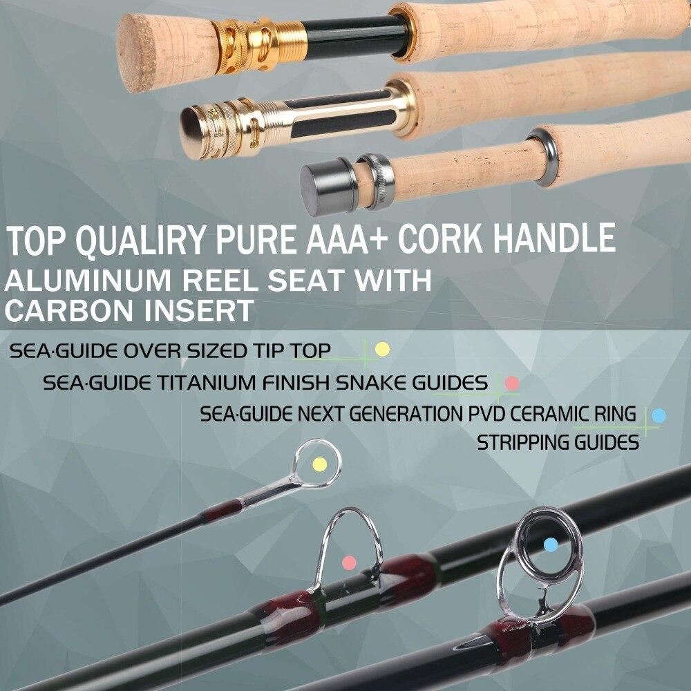 Maximumcatch Skyhigh Fly Rod IM12 Toray Carbon Super Licht Snelle Actie Fly Hengel met Carbon Buis 2 8WT 6 10FT 3 4Sec - 4
