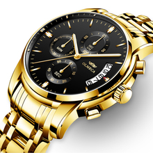 OLMECA Relogio Masculino Men Watch Luxury Watches 3ATM Waterproof Chronograph Wristwatch Stainless Steel Band 0826