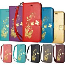 Gilding Butterfly Case For Huawei P20 Mate 20 Pro P9 Lite Mini Y5 Y6 Y7 Y9 2018 Nova 2s 2i 3 3i Capa Magnet Wallet Cover P02G
