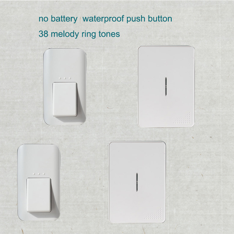 no battery wireless doorbell 120m home remote control
