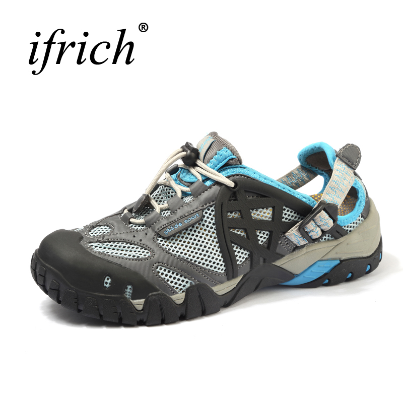 hot sale women men sandals outdoor shoes mesh breathable