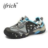 Hot Sale Women Men Sandals Outdoor Shoes Mesh Breathable Sport Sandals Water Shoes Fishing Sneaker Men