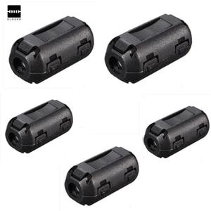 5 шт./лот черная пластиковая клипса на EMI RFI подавитель шума 5 мм кабель ферритовый сердечник фильтры съемные 25 (L) x10 (W) мм 5 мм