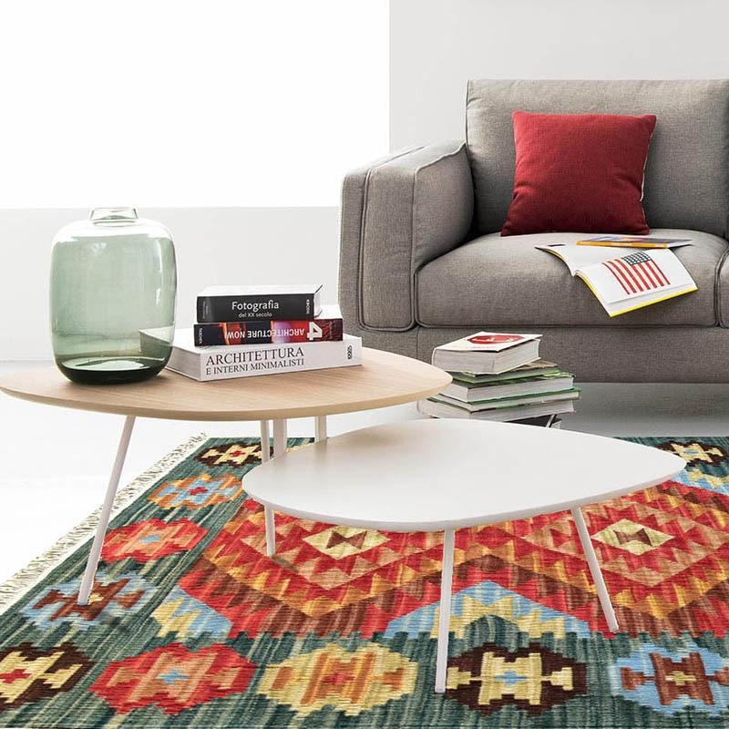 Pure manuel laine Kilim Gauzily tapis moderne géométrie tissage laine Texture rugueuse couleur Collocation boutique Carpetgc195kliyg28