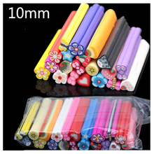2015 10mm Large Mixed Nail Art Fimo Polymer Clay Rods for Nail Art Decorations 3d Nail Art Stickers Gel Nail Polish Accessories