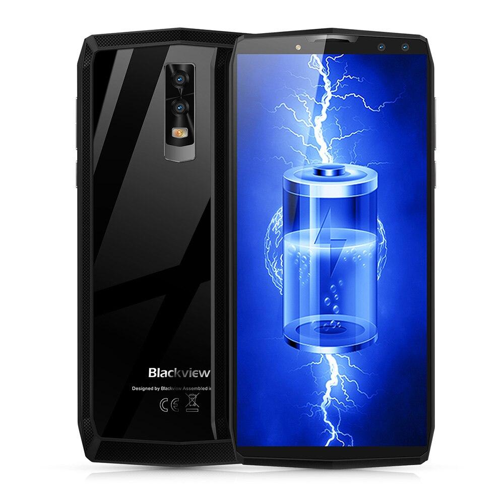 Blackview P10000 Pro 4g Smartphone 6.0 pouce Android 7.1 MTK6763 Octa Core 4 gb RAM 64 gb ROM Quad caméras En Verre Retour Cas 11000 mah