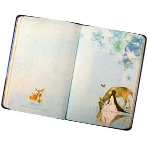 Image 4 - 美しい小さな新鮮なカラーページのノートブックヘラジカイラスト日記帳ハードカバープランナー学校オフィス文具
