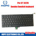 Original Sweden Keyboard For Apple Macbook Pro 13'' A1278 Sweden Swedish Keyboard With Backlight 2009 2010 2011 2012