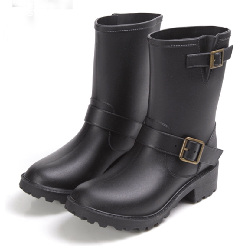 2017 women Middle Style Rainboots,women's Low Heels bot Short Rain Boots(wellies),Water Shoes,botas de agua free Shipping! rubber high red zipper boots horse riding gumboots rainboots women rain boots botte de pluie stivali donna wellies bot