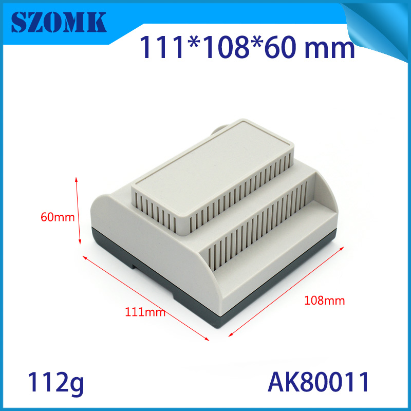 4pcs/lot Home-made plastic din rail enclosures for electronics abs plastic housing for electronics device 111x108x60mm junction 1 piece plastic box electronics din rail housing szomk din rail plastic enclosures junction box connector terminal block case