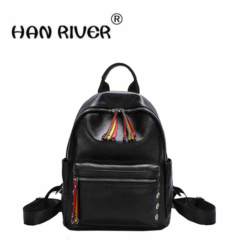 The new version of the new south Korean version of the popular fashion leather bag ladies' backpack cd smokie the other side of the road new extended version