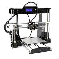 Двойной экструдер, полностью закрытый корпус с двумя Prusa i3 3D принтеры s акриловая рамка обновление Anet A8M DIY рабочего шкив линейный 3D принтеры