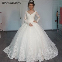 SIJANEWEDDING Wedding Dress Long Sleeves Ball Gown