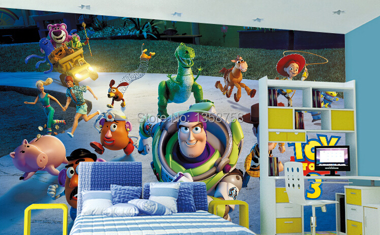 ... Buzz Lightyear Wall Mural Toys 3 Family Portrait Decal Wall Paper Home  Decor ... Part 65