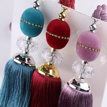 Plush New Simple Crystal Ball Curtains Hanging Strap Hydrangea Curtain Tie Ball Curtain Buckle Strap Accessories #20