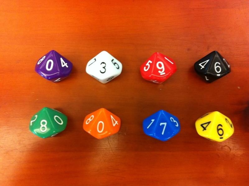 10 (0-9) berlatih permainan DND dadu polihedral / permainan TRPG / anak-anak sembilan sembilan penambahan dan pengurangan multiplikasi