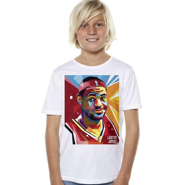 8618e5182 LeBron James Kids T Shirts Short Sleeve Printing Sports T-shirts Cotton Kids  Basketball Star