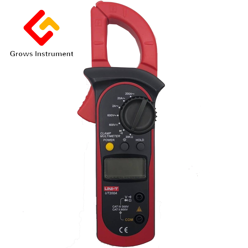 UT204 Digital clamp meter digital multimeter ammeter resistance to high precision DC voltage meter gifted high new dual digital open small clamp multimeter clamp meter backlit digital display multi function ua2008e