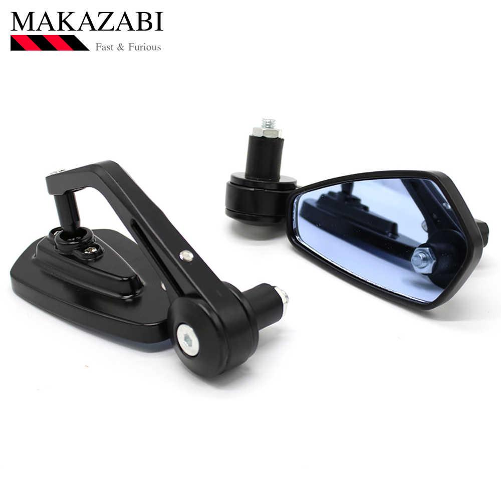 "Sepeda Motor Cermin Aluminium 7/8 ""22 Mm Bar Akhir Sisi Kaca Spion Universal Sepeda Motor Sepeda Stang Belakang Cermin"
