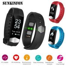 CD01 EKG Blutdruckmessgerät Bluetooth Smart Armband Sport Fitness Smart Band Armband Tracker für iPhone 6 5 S 5C 5 SE 4 4 S