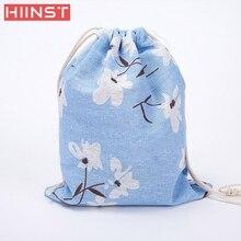 Модные унисекс Рюкзаки печати Сумки рюкзак на шнурке 3 размера сумка-шоппер comfystyle 5.24