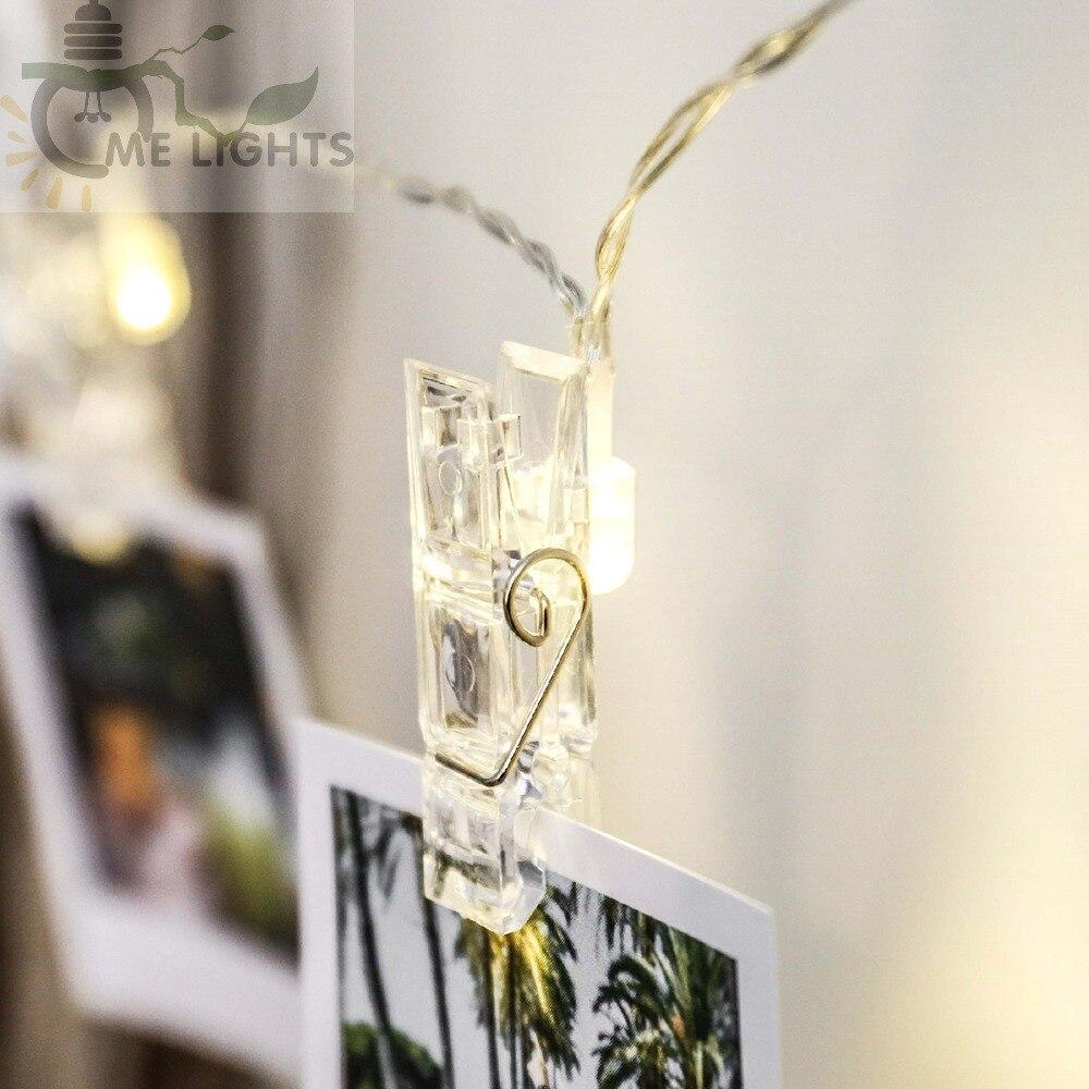 Battery Powered Photo Clip String Lights gerlyanda Decorative LED ...