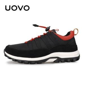 Image 2 - חדש בנים ובנות ספורט נעלי סתיו UOVO 2020 ילדי נעליים לנשימה ילדי נעלי Brethable שטוח מקרית סניקרס Eur #32 38