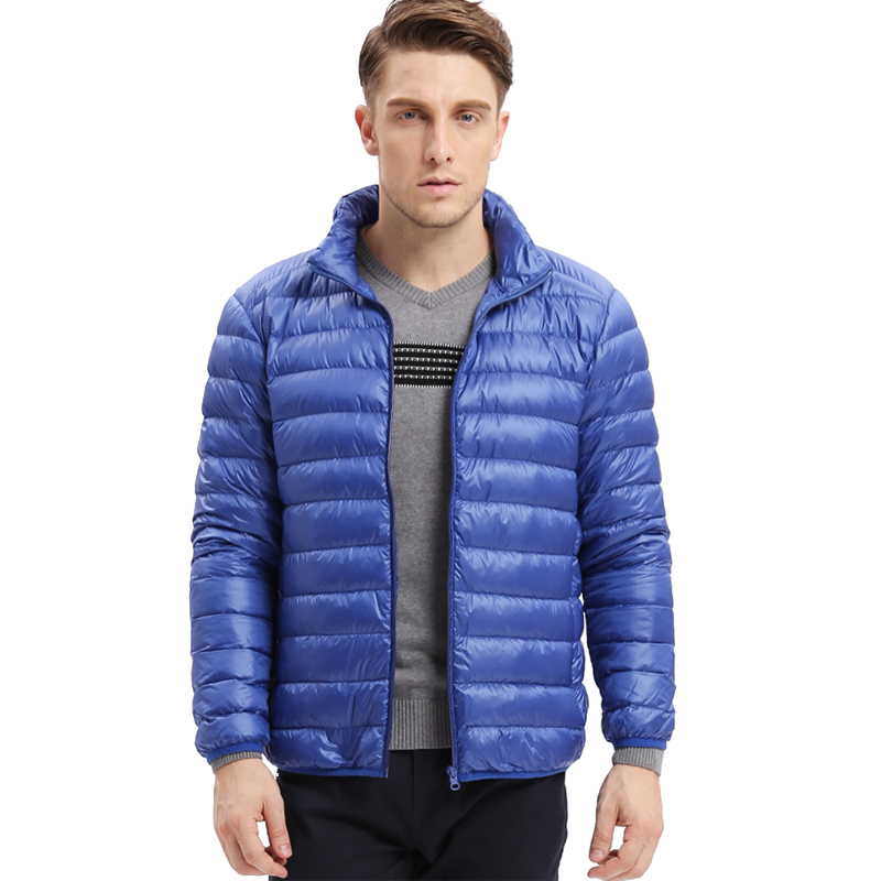 VOMINT down jacket ultra-light Autumn winter men warm fitt thin down Coat Male