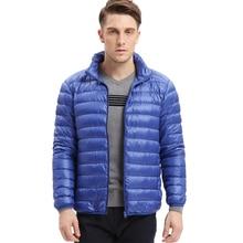 VOMINT mens fashion hot sale down jacket ultra light down Autumn winter men jacket warm fitt leisure thin down Coat Male M 5XL
