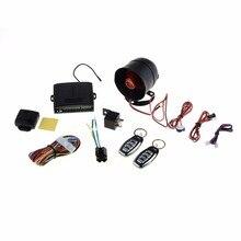 1-Way Car Veículos Sistema de Segurança de Proteção Alarme Alarmes de Carro & Segurança Keyless Entry Siren + 2 Remoto