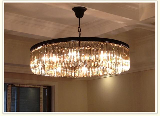 US $430.7 |Runde lampen Amerikanischen landhausstil K9 lichter kristall  kronleuchter Schlafzimmer lampe Halle Luxus lampe 100% qualitätsgarantie in  ...