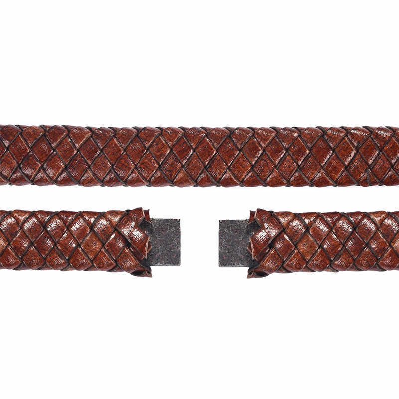 Groothandel 12x6mm Lederen Koord Voor DIY Mannen Armband Sieraden Maken Platte Vlecht Koord Accessoires Bevindingen Handgemaakte gift