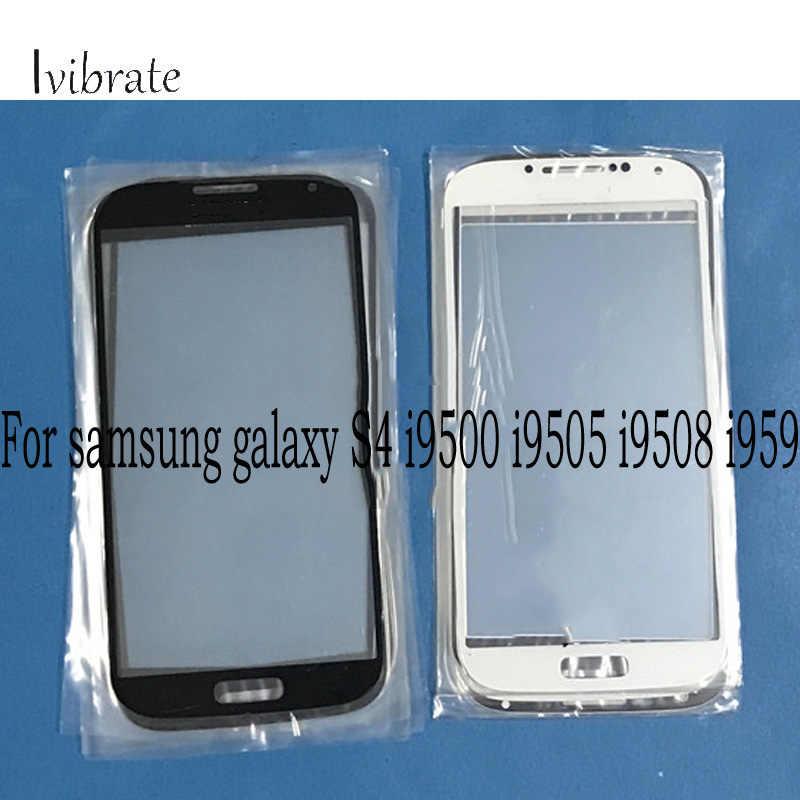 A + الجودة ل samsung galaxy S4 S 4 اللمس شاشة i9500 i9505 i9508 i959 محول الأرقام لمس لوحة زجاج دون فليكس كابل