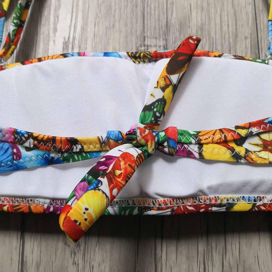7-14 Tahun Gadis Swimsuit Anak Baju Cetak Remaja Gadis Bikini Set Ruffle Dua Potong Anak untuk Anak Perempuan Mandi sesuai dengan Berenang Memakai