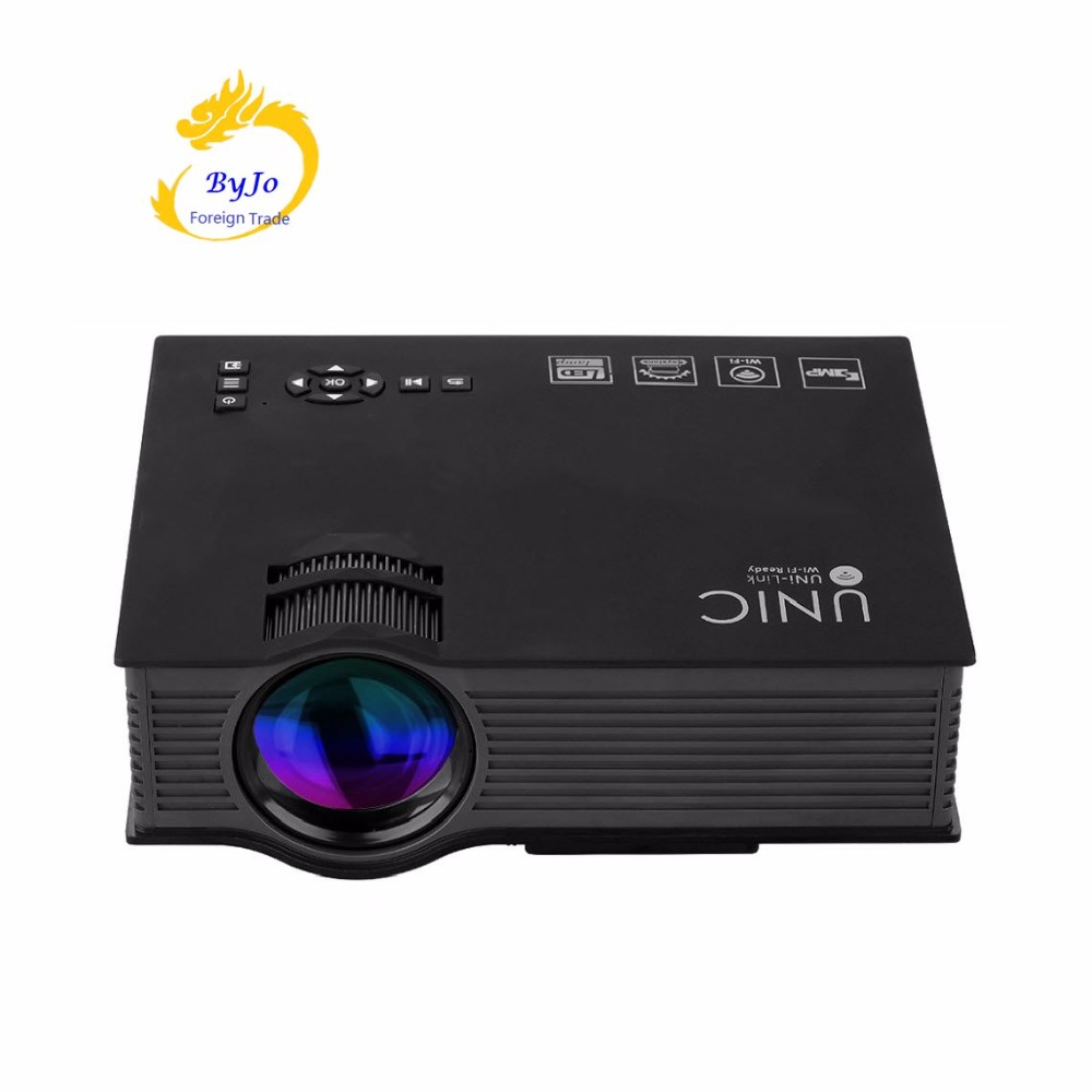 ФОТО UNIC uc46 Mini LED Projector 1200 Lumens Air Sharing Home theater projector Full HD 1080p Video Projector HDMI proyector