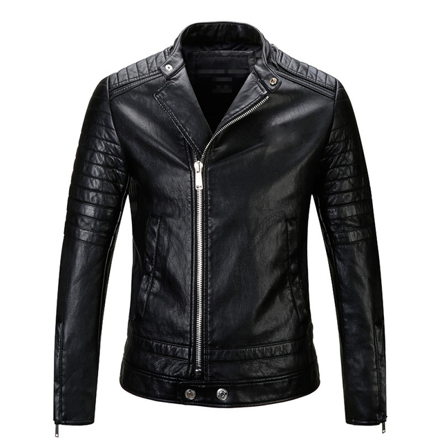 2017 New Arrival Male Leather Jacket Punk Embroidery biker jacket Men fashion design winter Motorcycle jackets M-XXXL
