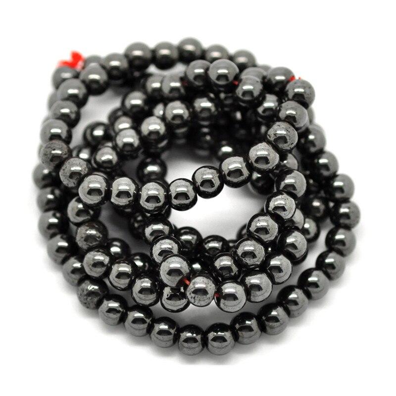 2100Pcs Hematite Round Loose Beads Fashion Jewelry 6mm 1 4