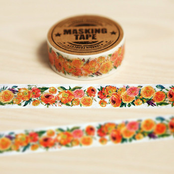 Self-restraint paper tape diy befriend nice printed adhesive tape washi paper masking flowers washi tape 2 4cm 50m washi tape excellent quality paper tape adhesive tape washi masking tape