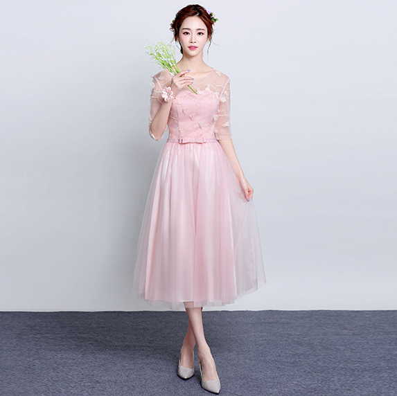 Pink Women Plus Size Short Tulle Modest Evening Tops Elegant Dress 2017 Gown Formal Dresses For Special Occasions H3905 In From Weddings