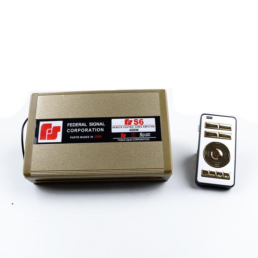 12V 400W S6 Police Siren Automotive Amplifier Siren S6 font b Electronic b font Wireless Dual