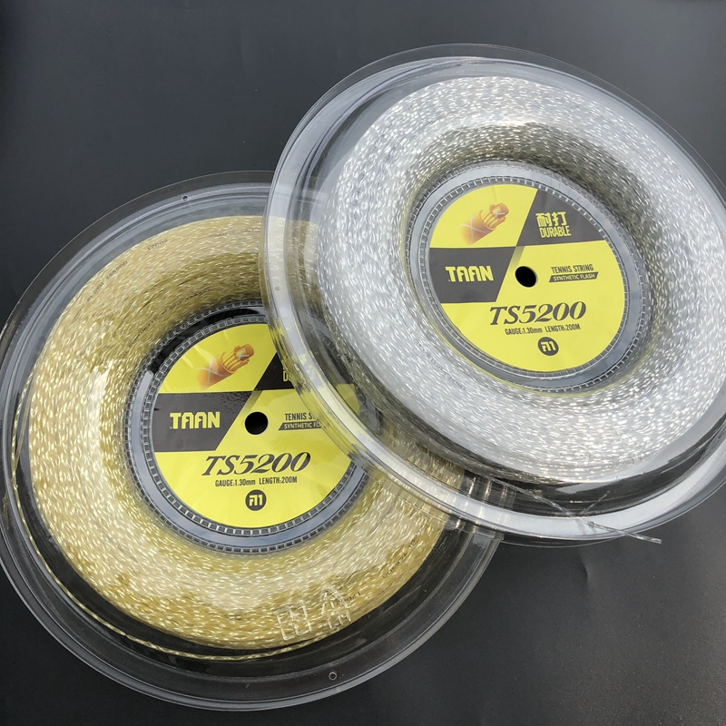 1 Reel TAAN Brand TS5200 tennis string 1 30mm 200M tennis rackets string Synthetic Flash strings
