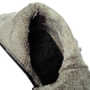 Image 4 - BLXQPYT زائد كبيرة وصغيرة الحجم 28 50 الدنيم التمهيد قصيرة أشار تو المرأة الخريف الشتاء عالية الكعب أحذية الزفاف امرأة Y72