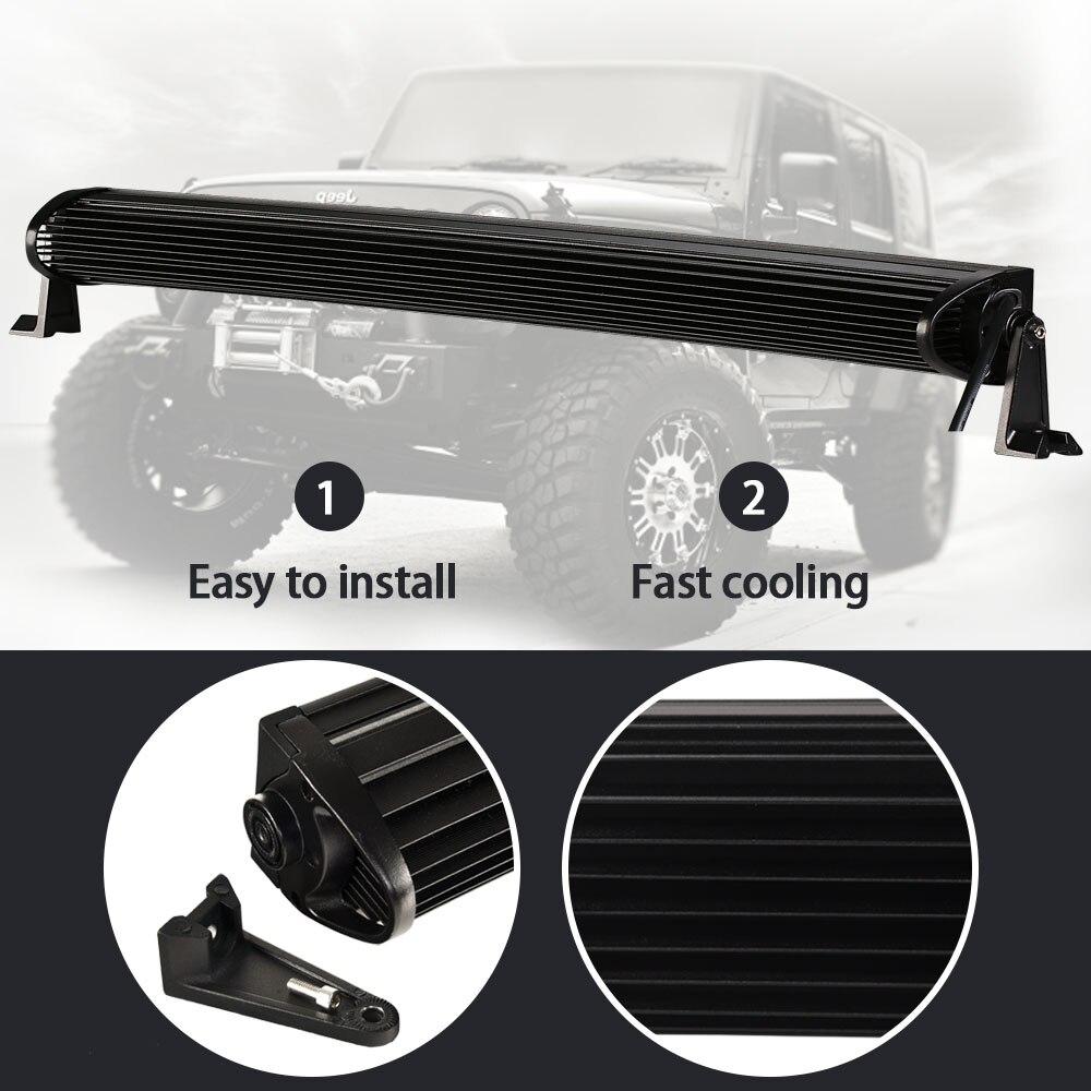 5D 52 Zoll Real Power BarCurved Led lichtleiste + Draht Kit für ...