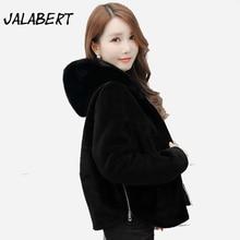 Coats Hot Sale Full Zipper Solid Bayan Kaban 2017 New Women Hooded False Fox Jacket Style Lady Coat Outerwear Fashion Overcoat