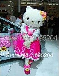 Volwassen grootte van hoge kwaliteit 4 stijlen hello kitty Mascotte - Carnavalskostuums
