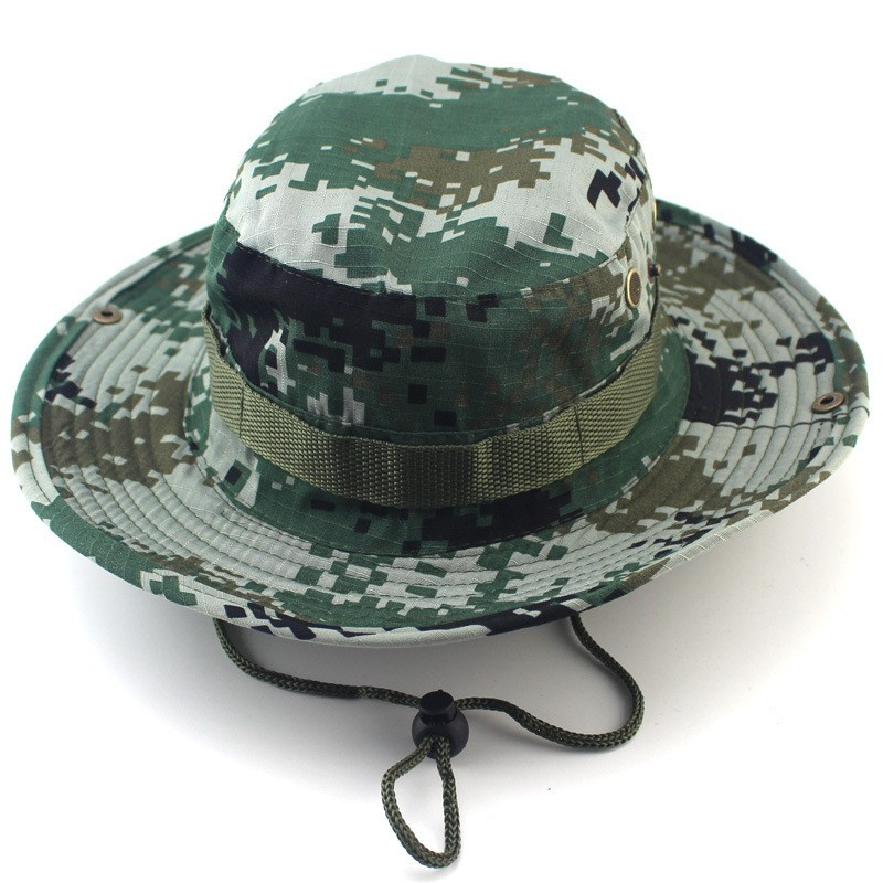 Outdoor Bucket Hats Mens Jungle Military Camouflage Bob Camo Bonnie Hat Camping Barbecue Cotton Mountain Climbing Fishing Caps (8)
