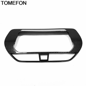 TOMEFON For Nissan Altima Teana 2019 Front Center Console GPS Navigation Box Cover Trim Interior Accessories ABS Sliver Carbon image