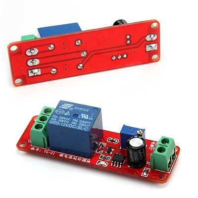 50pcs/lot DC 12V Delay relay shield NE555 Timer Switch Adjustable Module 0 to 10 Second