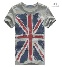 Free shipping 2015 Summer New men's short-sleeved T-shirt, male Korean Slim yards short T-shirts, Union Jack,short sleeve,M-XXXL