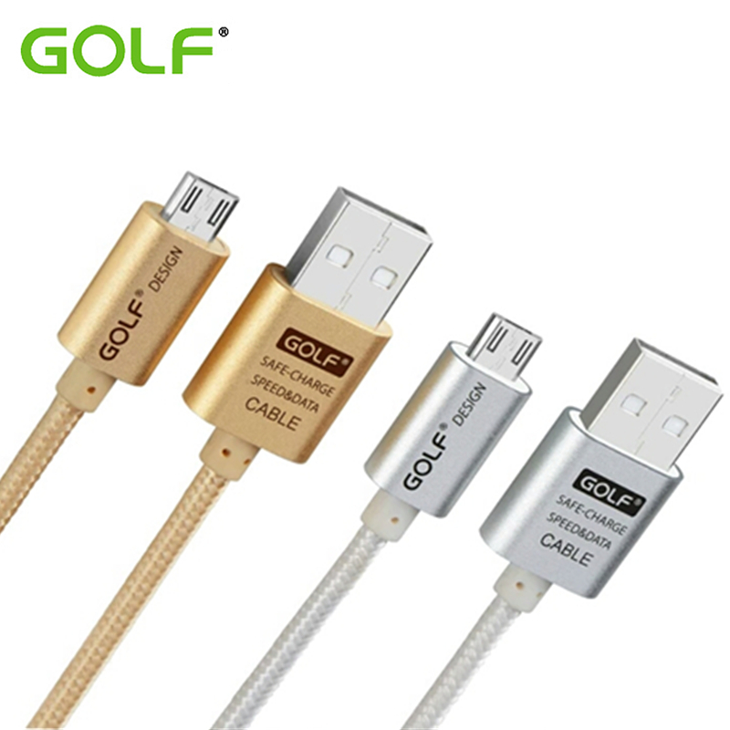 GOLF Braided Charger For Samsung S3 S4 S6 S7 Edge Note 2 4 5 USB Data Sync Cord 3 meters Cable Wire 25cm 100cm 300cm Line